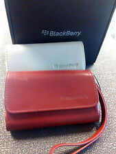 OEM BLACKBERRY LEATHER POUCH CASE+ STRAP 9900 9630 9650 compatible w many models