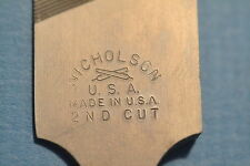 "NEW NICHOLSON USA made 10"" KNIFE Type SECOND CUT FILE (WR.12a.D.3)"