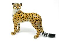 """Collectable 16/"""" Huge Bronze Collect Leopard Panther Cheetah Run Statue"""