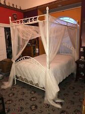 Full Size Canopy Bed with Netting and Mattress - $375 (Minden)