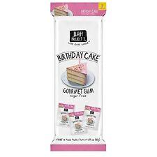 3 confezioni di dodici pezzi-Progetto 7 torta di compleanno Gourmet Gum Sugar Free-USA