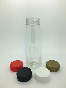 Plastic Juice Bottles 250ml PET with 38mm cap - juice, smoothies - Box of 96