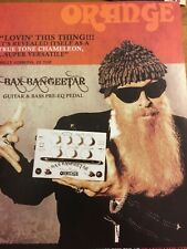Zz Top, Billy Gibbons, Orange Pedals, Full Page Vintage Promotional Ad