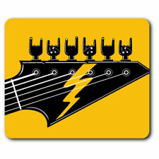 Computer Mouse Mat - Rock Band Electric Guitar Music Office Gift #12984