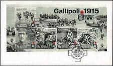 2015 AUSTRALIA WWI Gallipoli M/S FDC
