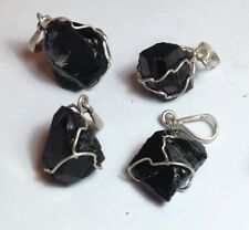 Tourmaline Natural Crystal In Silver  Pendant (12 to 20 ct)