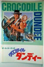 'CROCODILE' DUNDEE Paul Hogan Japanese Movie Program Registered shipping