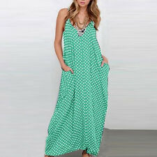 Women Multi Color Boho Long Maxi Plus Size Cocktail Beach Party Dress Sundress