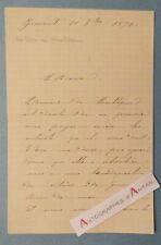 L.A.S GIMONT (Gers) - 1890 Comtesse de MONTLEZUN - Lettre autographe noblesse