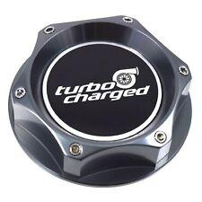 BDC Gunmetal Billet Oil Filler Cap Turbo Charged Emblem For Honda & Acura