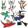 Room on the Broom Group Self Adhesive Wall Sticker Set Decal Multi Sizes V1**