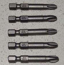 "5 x BOSCH No 3 Phillips PH3 - 2""- 50mm 1/4"" Screw Driver Tip Bit AUSTRALIA Post"