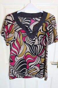 Principles Multi Coloured Tunic top Size 10