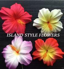 Hawaii HIBISCUS Flower FOAM Hair PICK Purple Red Yellow Pink Wedding Luau Prom
