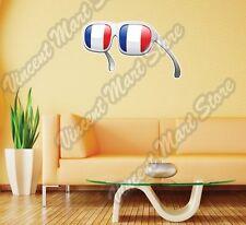 "France Flag Summer Fashion Sunglasses Wall Sticker Room Interior Decor 25""X18"""