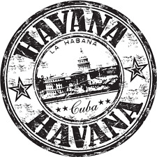 "Havana City Cuba Travel Car Bumper Sticker Decal 5"" x 5"""