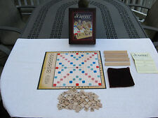 Scrabble Crossword Game Vintage Wooden Book Shelf Collection~Complete!
