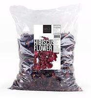 1 lb Natural Dried Hibiscus Flower In Resealable Bag by Hayllo