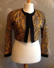 Marccain Vintage 100% silk Jacket Stunning Gold Quilted Fabric