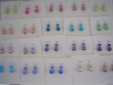 Orecchini di bigiotteria farfalline pendente di perla (imitazione)