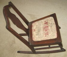 Vintage Wooden ROCKING CHAIR Grand Ledge Chair Company w Removable Fabric Seat