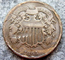 UNITED STATES 1864 2 CENTS, UNION SHIELD
