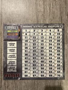 Risk 2210 A.D. Replacement Score Chart Avalon Hill Army Status Report 2001