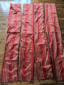 Set of 4 Target Casual contemporary Home Curtains stripes (Red)