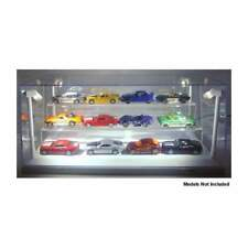 LED Display Case with White Base for 12 x 1:64 scale diecast vehicles