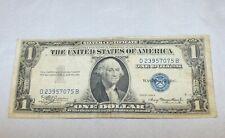 1935-A ONE DOLLAR $1 Silver Certificate w/ Fancy Serial Blue Seal D23957075B