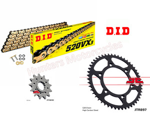 KTM 300 EXC TPI Enduro DID Gold X-Ring Chain & JT Sprockets Kit 13 Front 51 Rear