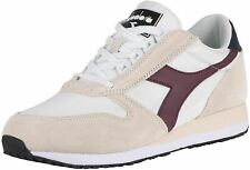 Diadora Caiman White Violet Mens Leather Trainers Shoes
