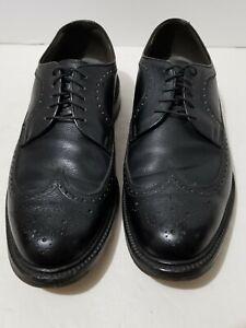 FOOTJOY 77354 Black Leather Wingtip Brogue Oxford Dress Shoes 10.5 D  USA MADE