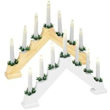 Traditional Christmas 7 LED Candle Lights Bridge Stand Gift Holder Home Decor