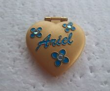 *~*DISNEY VERY RARE HTF ARIEL HEART SHAPED LOCKET HINGED LITTLE MERMAID PIN*~*