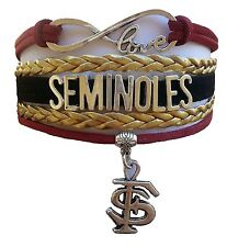 Florida State University Seminoles College Infinity Bracelet Jewelry Apparel