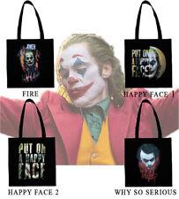 Borsa in cotone joker, joker 2019, joaquin phoenix, heath ledger, shopping bag