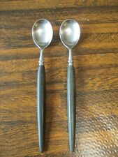 New listing Guildcraft, Forged Stainless Flatware Gui1; Black/Ebony Handle Iced Teaspoons