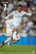 "CRISTIANO RONALDO POSTER ""LICENSED""  REAL MADRID FC 2018 ""BRAND NEW (61cmX91.5cm"
