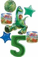 The Good Dinosaur Party Supplies 5th Birthday Arlo and Spot Balloon Bouquet D...