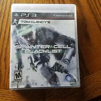 Tom Clancys Splinter Cell Blacklist PS3 Video Game Rated M Mature 2013