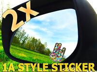 2x The Shocker Autoaufkleber Shocker spiegel tuning fun gag dubs oems vag  sd7