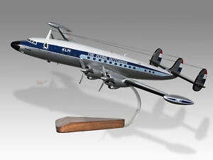 Lockheed L-1049G Super Constellation KLM Pegasus Handcrafted Wood Display Model