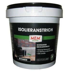 MEM Isolieranstrich schwarz, 1 l  Deckaufstrich   Bitumen   Kaltanstrich