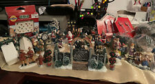 Christmas Village People & Accessories Lot Of 39