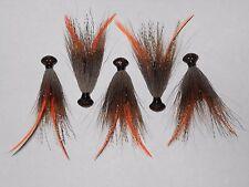 3/8 oz Football Hair Jig for Small/ Large Mouth Bass Crayfish Crawfish B 4/0 BLN
