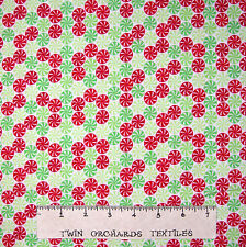 Flannel Fabric - Home for Holidays Christmas Peppermint Toss Riley Blake YARD