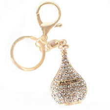 Parfum Perfume Bottle Pink New Fashion Charm Crystal Purse Bag Keyring Chain