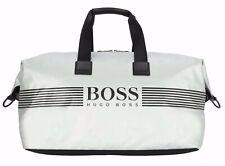 Hugo boss Borsone Pixel Bianco Golf Borsa Weekender Nuovo Athleisure