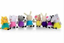 "8Pcs Set Peppa Pig Friends Plush Doll Stuffed Toy 8"" Great Gift"